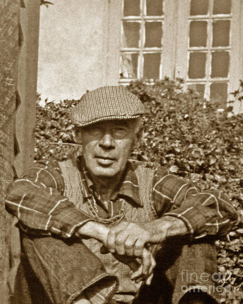 Photograph - Henry Miller Big Sur 1891-1980 by California Views Archives Mr Pat Hathaway Archives