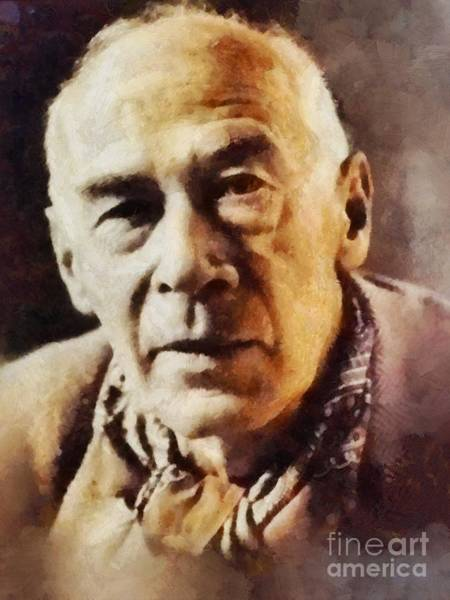 Poetry Painting - Henry Miller, Literary Legend by Sarah Kirk