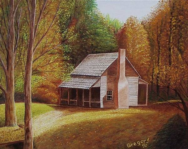 Painting - Henry's Cabin by Gene Gregory