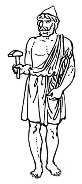 Drawing - Hephaestus / Vulcan by Granger