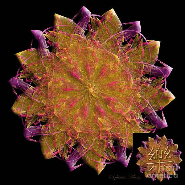 Digital Art - Happiness Fractal Energy Mandala by Alexa Szlavics