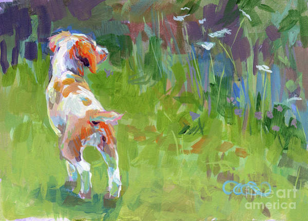Field Spaniel Painting - Her First Point by Kimberly Santini