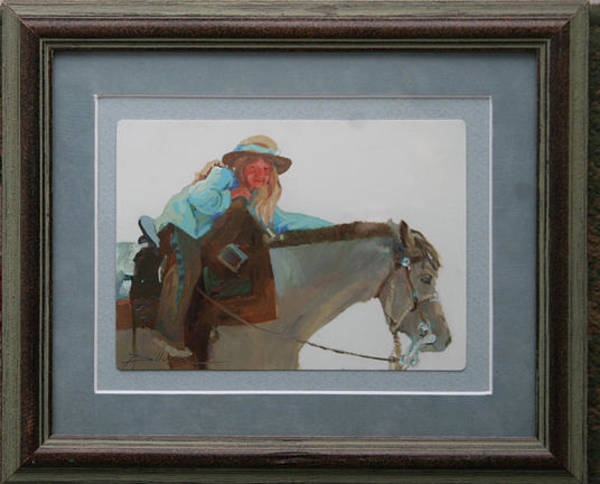 Painting - Her Pa's Horse by Betty Jean Billups