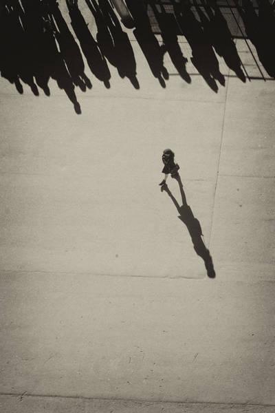 Photograph - Her Shadow, Paris, 2014 by Hitendra SINKAR