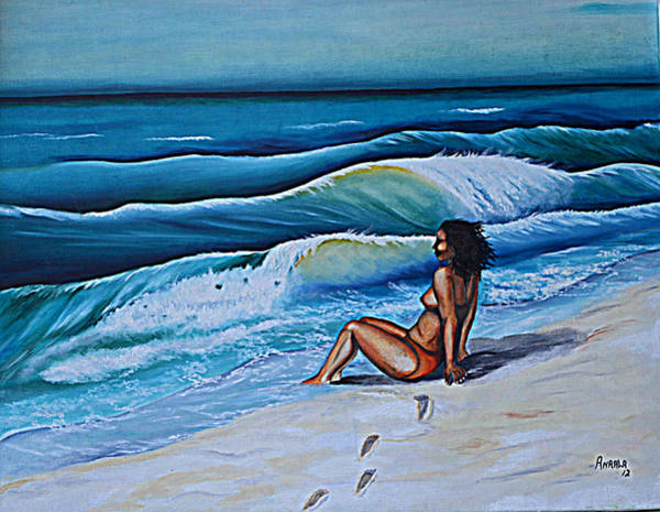Wall Art - Painting - Her Surf by Andrew Hollimon