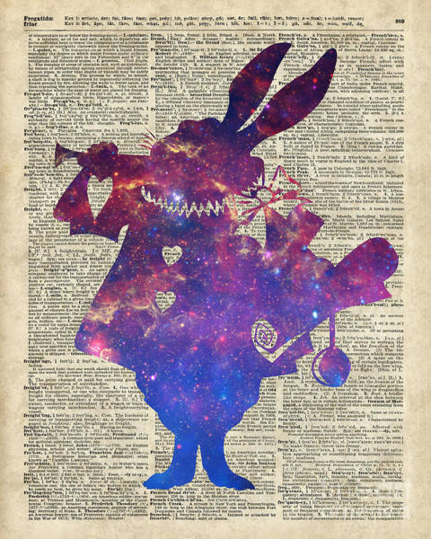 Wall Art - Digital Art - Herald Purple Rabbit by Anna W