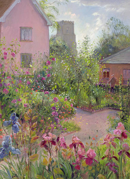 Church Yard Wall Art - Painting - Herb Garden At Noon by Timothy Easton