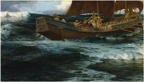 Herbert Draper Painting - Herbert James Draper 1863-1920 The Wrath Of The Sea God by Herbert James Draper