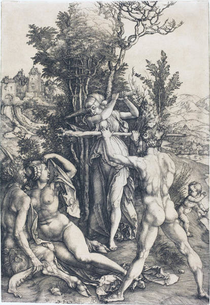 Drawing - Hercules by Albrecht Durer