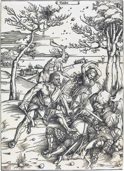 Drawing - Hercules Conquering Cacus by Albrecht Durer