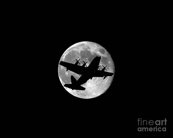 National Guard Photograph - Hercules Moon .png by Al Powell Photography USA