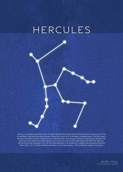 Wall Art - Mixed Media - Hercules The Constellations Minimalist Series 23 by Design Turnpike