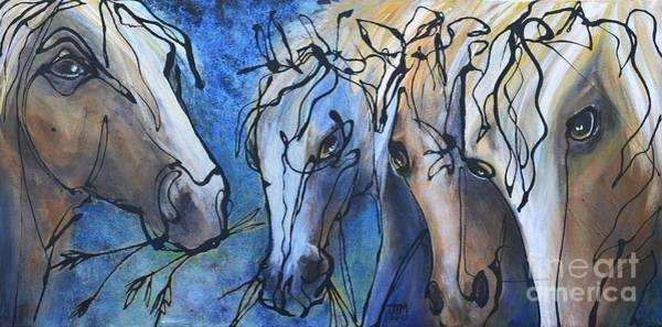 Painting - Herd Dynamics by Jonelle T McCoy