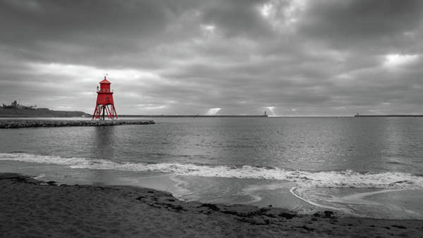 Wall Art - Photograph - Herd Groyne Lighthouse, South Shields by Mike Walker