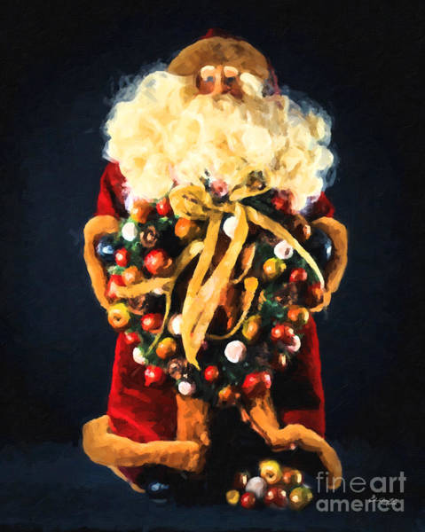 Painting - Here Comes Santa by Chris Armytage