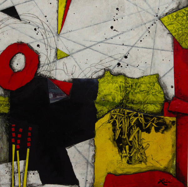 Triangle Mixed Media - Here Is Where You Begin by Laura Lein-Svencner