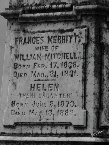 Photograph - Here Lies Frances And Helen by Wild Thing