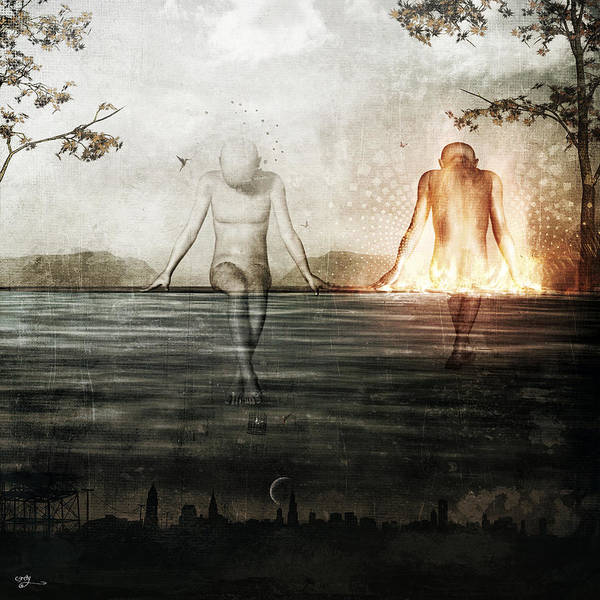 Wall Art - Digital Art - Here We Divide by Cameron Gray