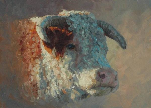Hereford Bull Painting - Hereford Bull by Jim Clements