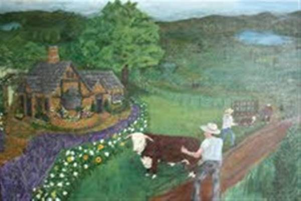 Hereford Bull Painting - Hereford by Dixie Hester