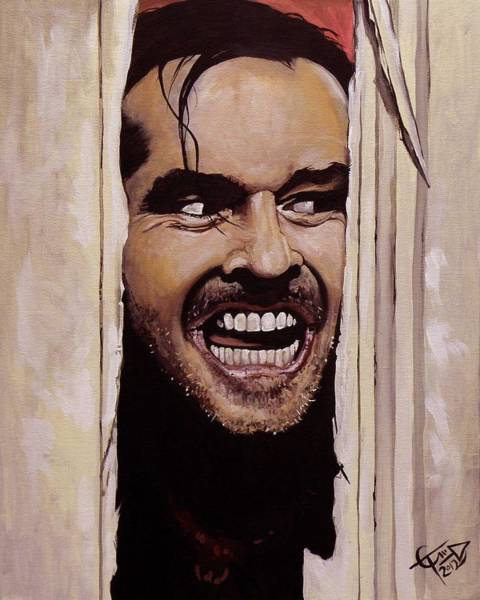 The Wall Art - Painting - Here's Johnny by Tom Carlton