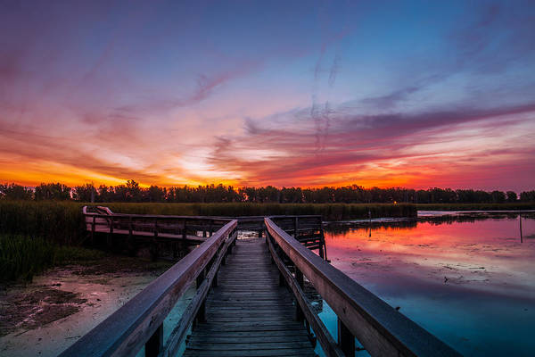 Wny Wall Art - Photograph - Heritage Boardwalk Twilight by Chris Bordeleau