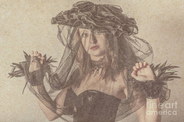 Statements Wall Art - Photograph - Heritage Fashion Girl Posing In Vintage Hat by Jorgo Photography - Wall Art Gallery