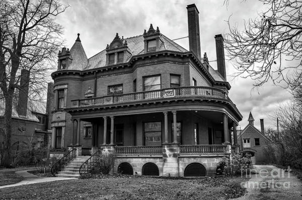 Photograph - Heritage Hill Mansion In Black And White by Kirt Tisdale