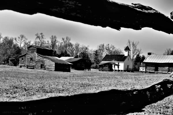 Wall Art - Photograph - Heritage Village In Black And White by Tara Potts