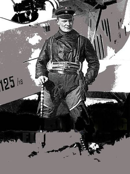 Photograph - Herman Goring Ww1 Aviator Number Two Circa 1918 by David Lee Guss