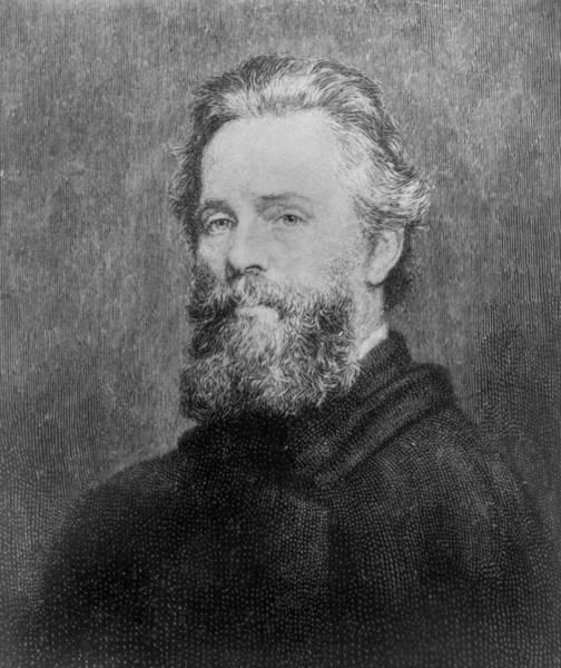 Melville Photograph - Herman Melville 1819-91 American Poet by Everett