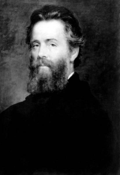 Melville Photograph - Herman Melville by Everett