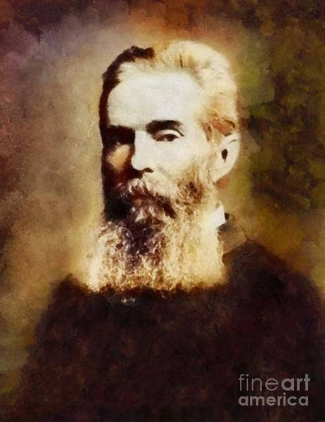 Poetry Painting - Herman Melville, Literary Legend by Sarah Kirk