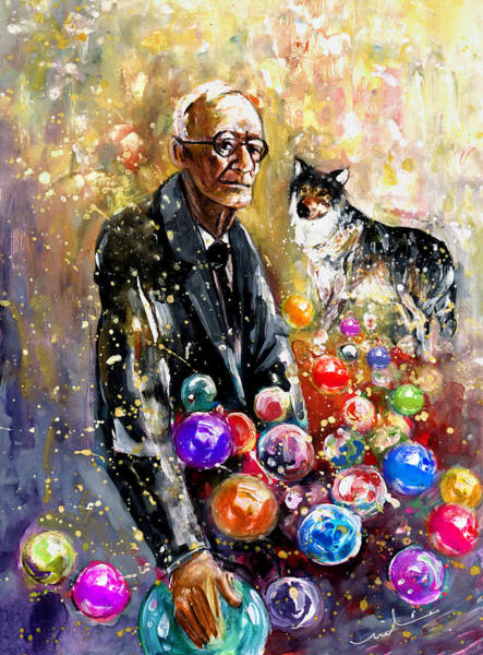 Painting - Hermann Hesse by Miki De Goodaboom