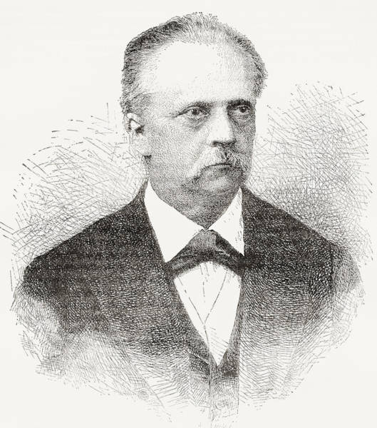 Wall Art - Drawing - Hermann Ludwig Ferdinand Von Helmholtz by Vintage Design Pics