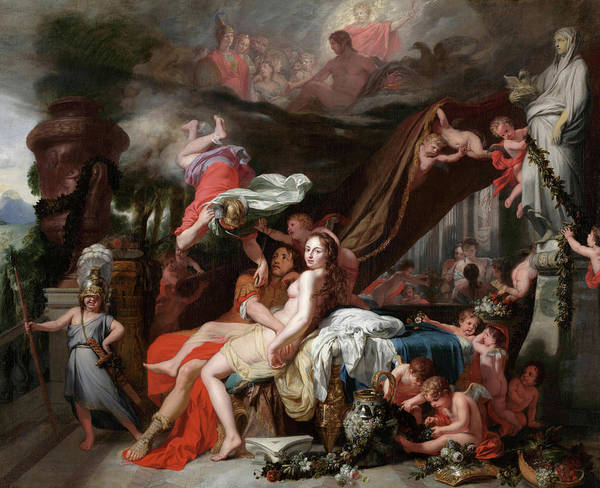 Greek Myths Wall Art - Painting - Hermes Ordering Calypso To Release Odysseus by Gerard de Lairesse