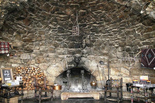 Photograph - Hermits Rest Fireplace by Teresa Zieba