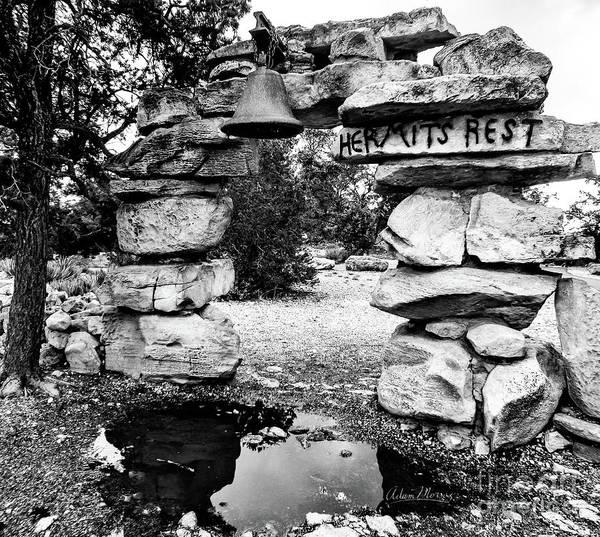 Hermit's Rest, Black And White Art Print