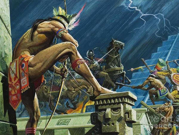 Sword Painting - Hernando Cortes by Severino Baraldi