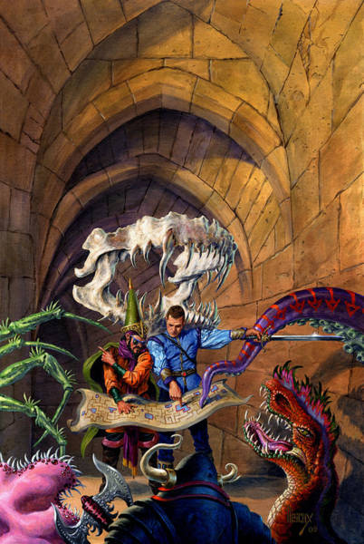 Mages Painting - Hero Wanted by Richard Hescox