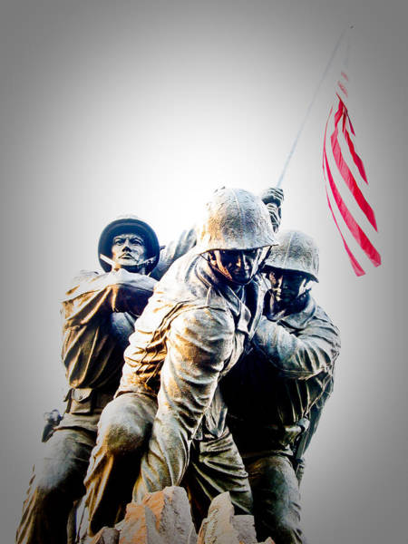 Us Marines Photograph - Heroes by Julie Niemela