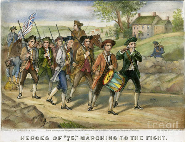 Photograph - Heroes Of 1776 by Granger