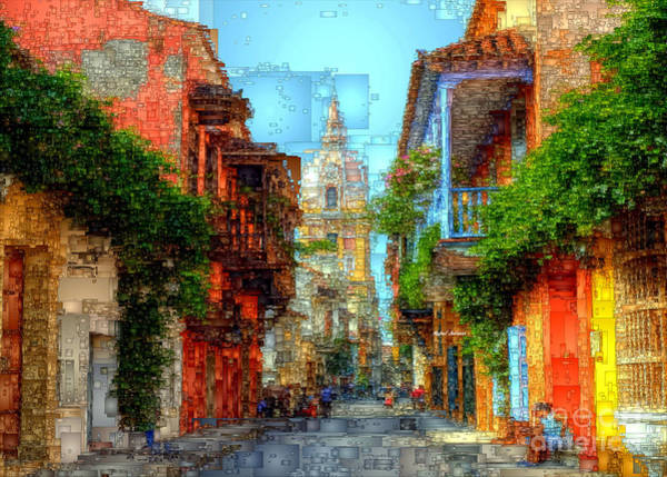 Digital Art - Heroic City, Cartagena De Indias Colombia by Rafael Salazar