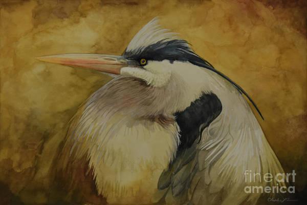Painting - Heron by Charles Owens