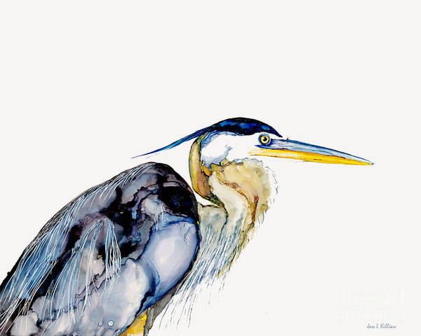 Painting - Heron Freeze by Jan Killian