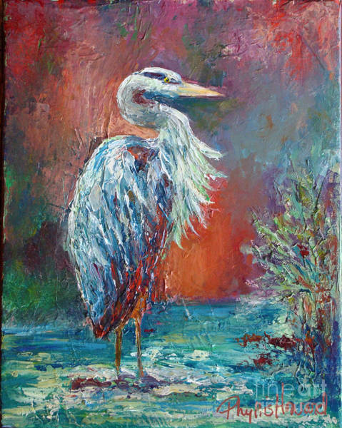 Painting - Heron In Color by Phyllis Howard