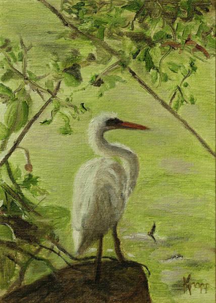 Painting - Heron by Kathy Knopp
