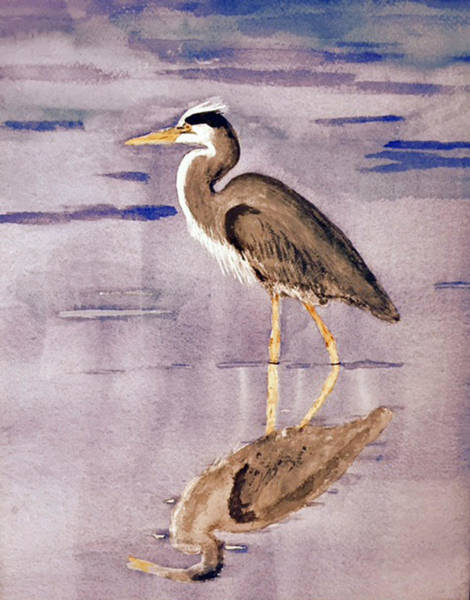 Painting - Heron No. 2 by Donald Paczynski