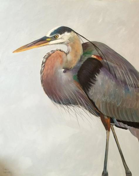 Wall Art - Painting - Heron Walk by Karen Langley