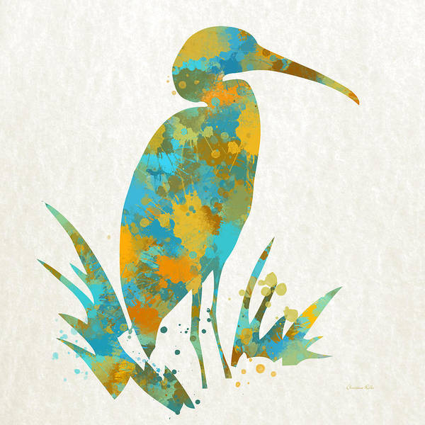 Bird Watercolor Mixed Media - Heron Watercolor Art by Christina Rollo
